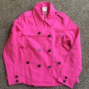 LANDS END Pink pea coat / size 14